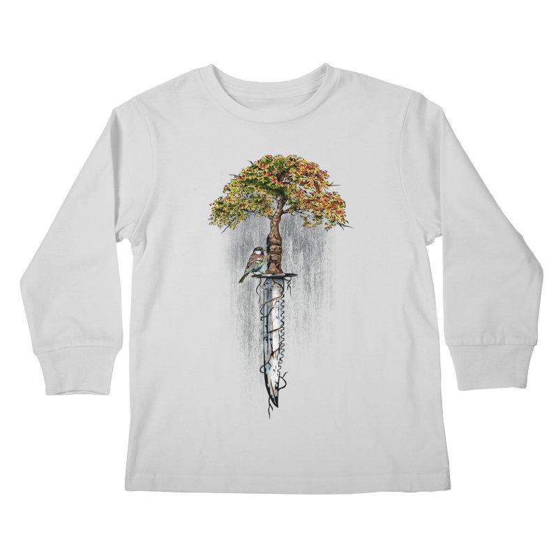 Back to life Kids Longsleeve T-Shirt by Jun087