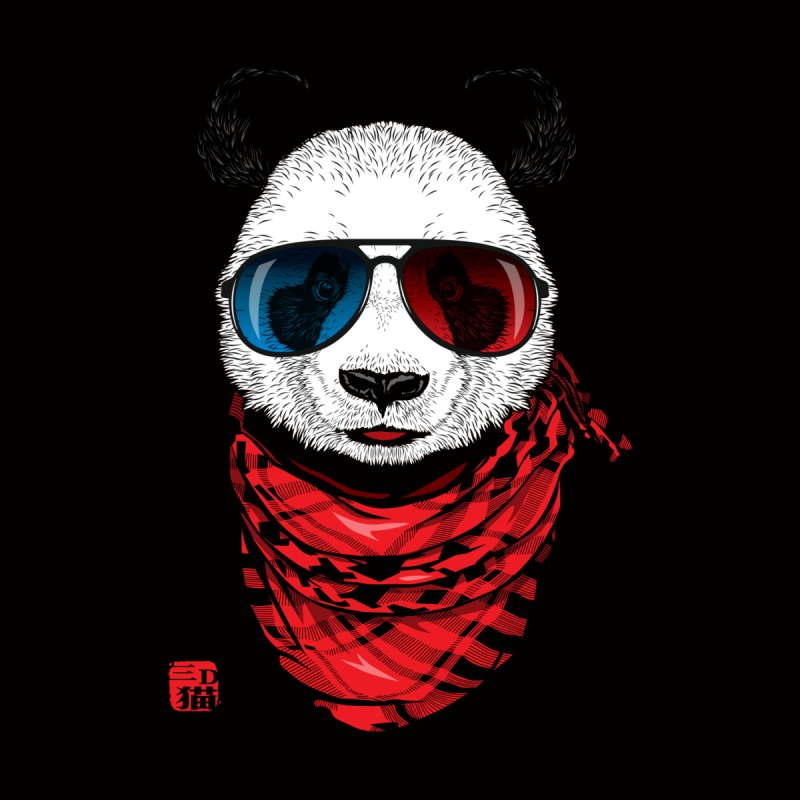 3D Panda Kids T-Shirt by Jun087
