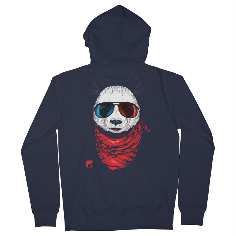 3D Panda Women's Zip-Up Hoody by Jun087
