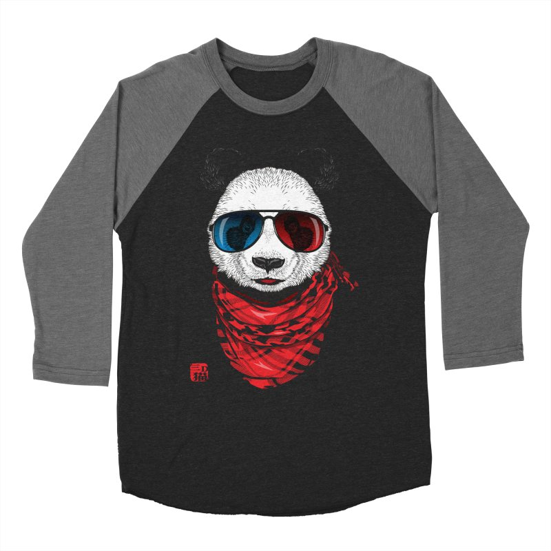 3D Panda Women's Longsleeve T-Shirt by Jun087