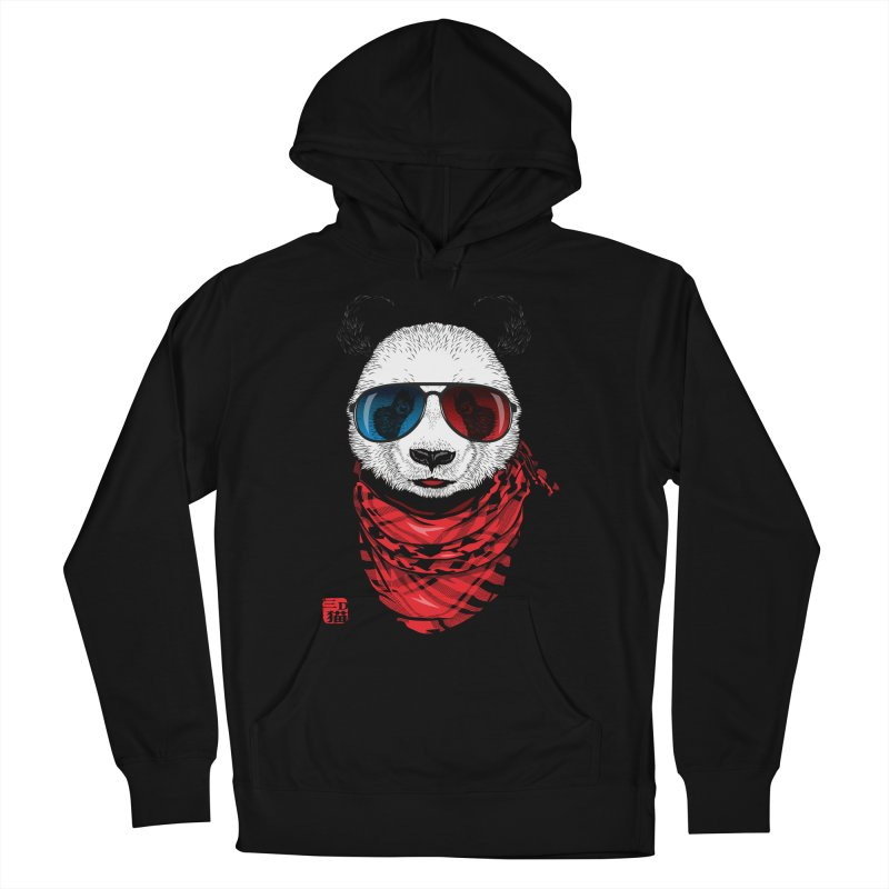 3D Panda Men's French Terry Pullover Hoody by Jun087