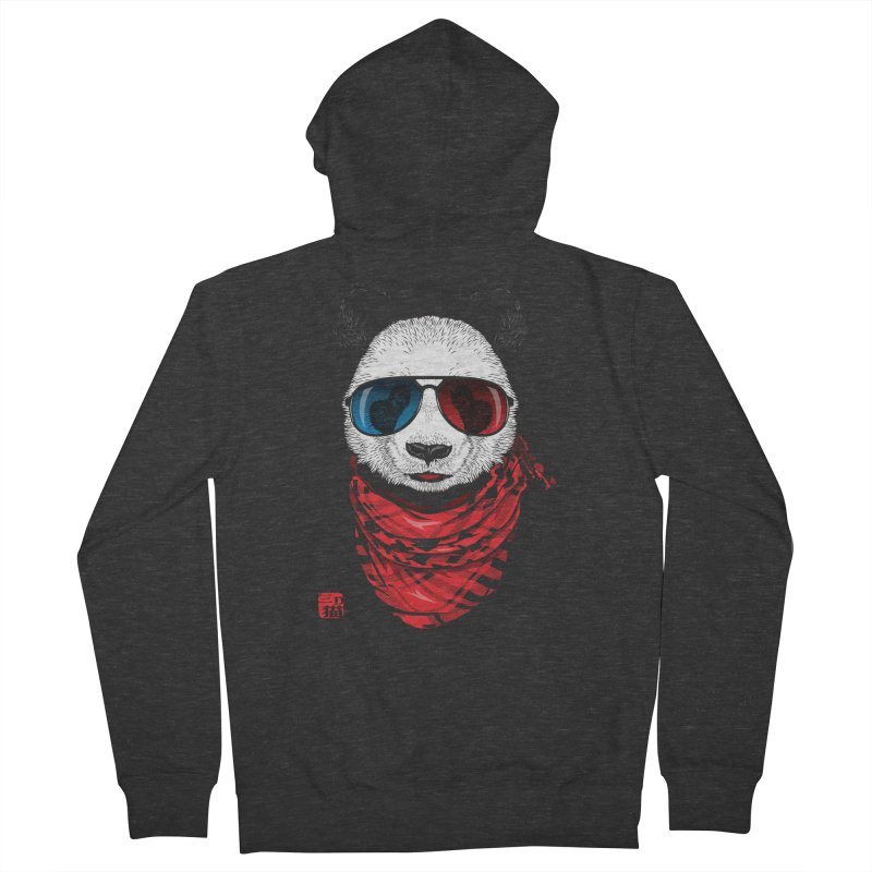 3D Panda Women's French Terry Zip-Up Hoody by Jun087