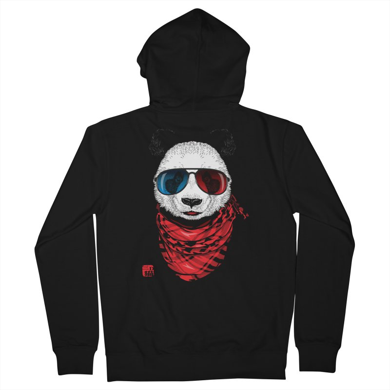 3D Panda Men's Zip-Up Hoody by Jun087