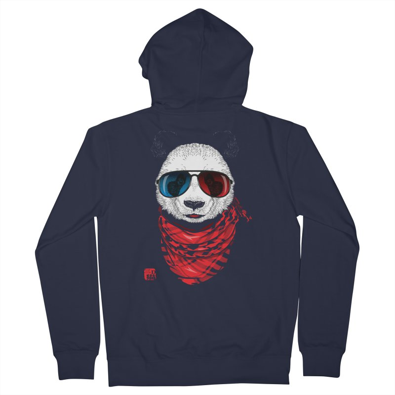 3D Panda Men's Zip-Up Hoody by Jun087