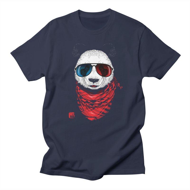 3D Panda Men's T-Shirt by Jun087