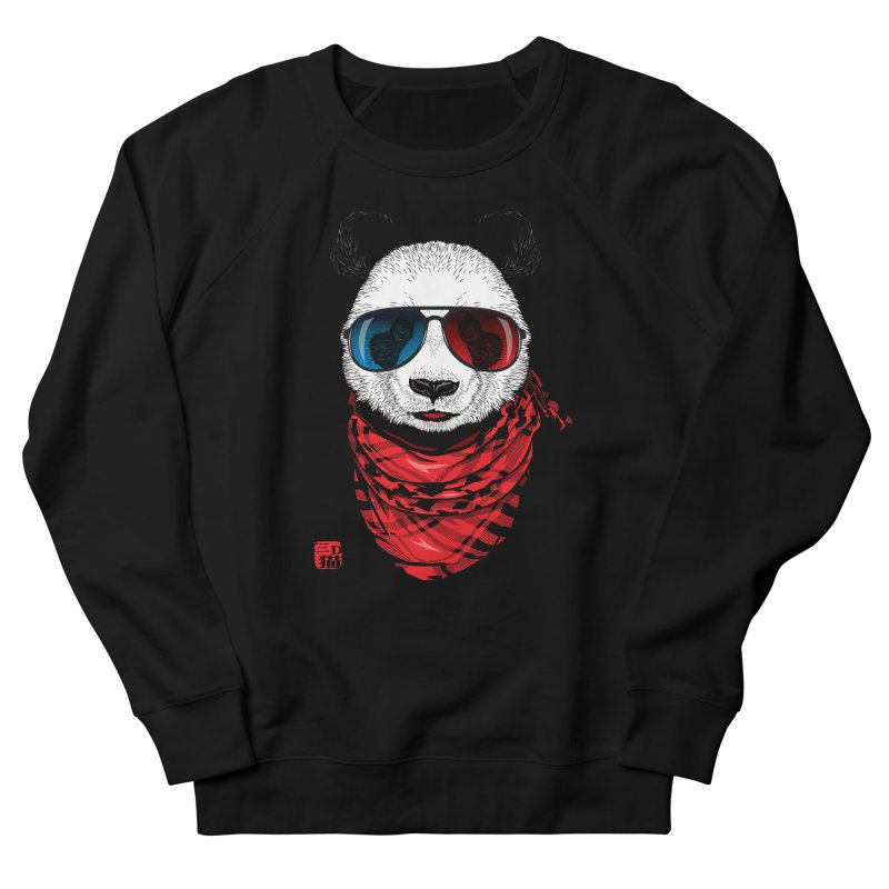 3D Panda Men's French Terry Sweatshirt by Jun087