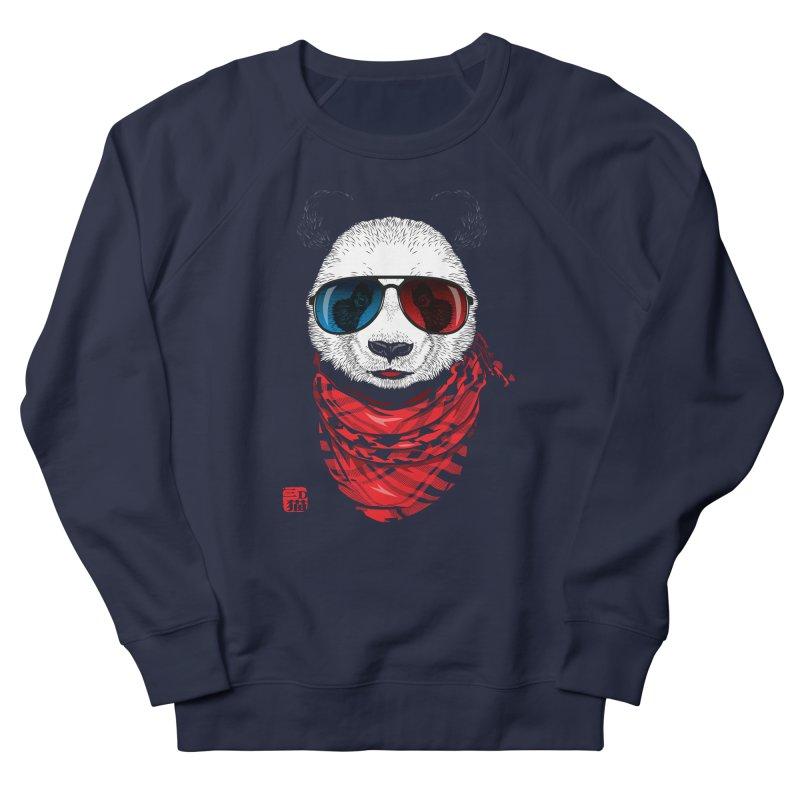 3D Panda Men's French Terry Sweatshirt by Jun087