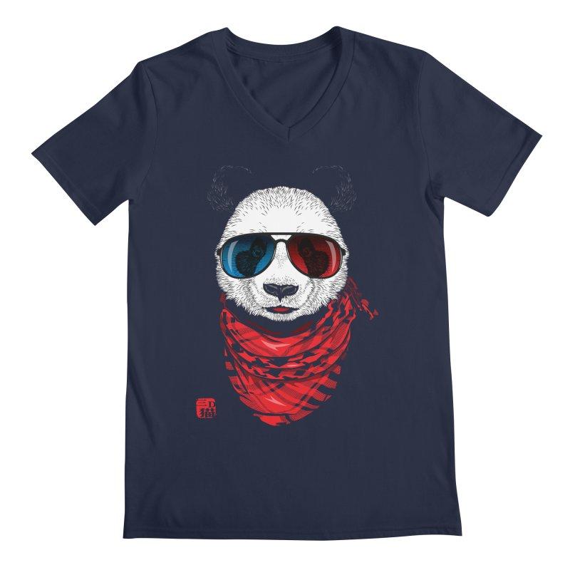 3D Panda Men's Regular V-Neck by Jun087