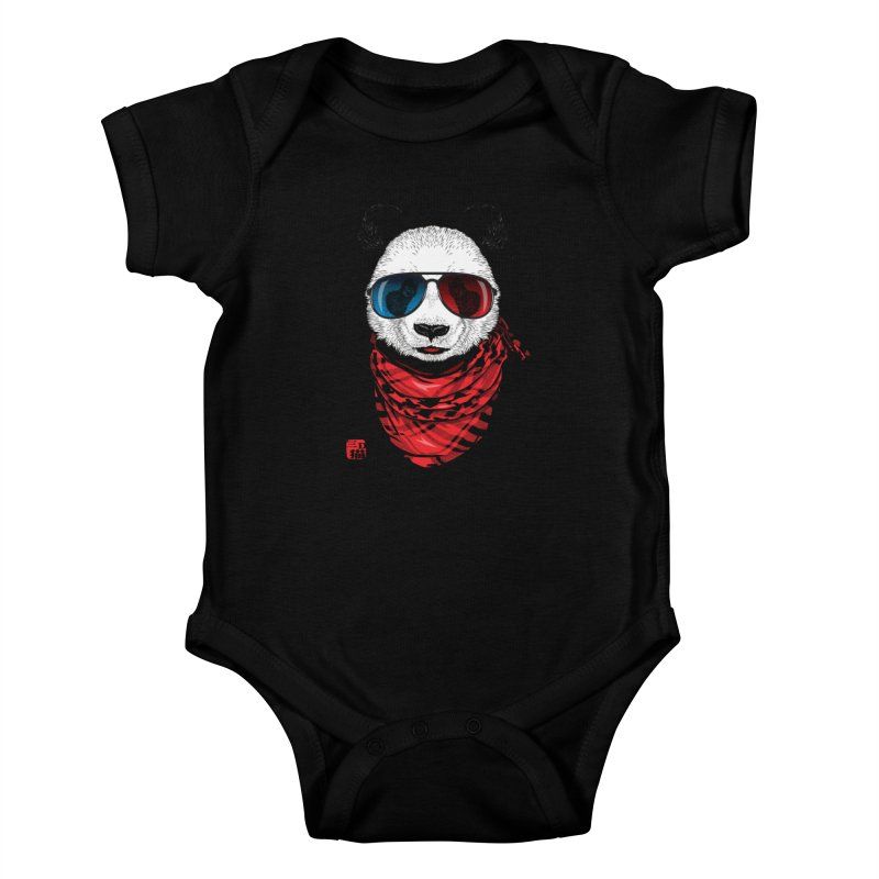 3D Panda Kids Baby Bodysuit by Jun087