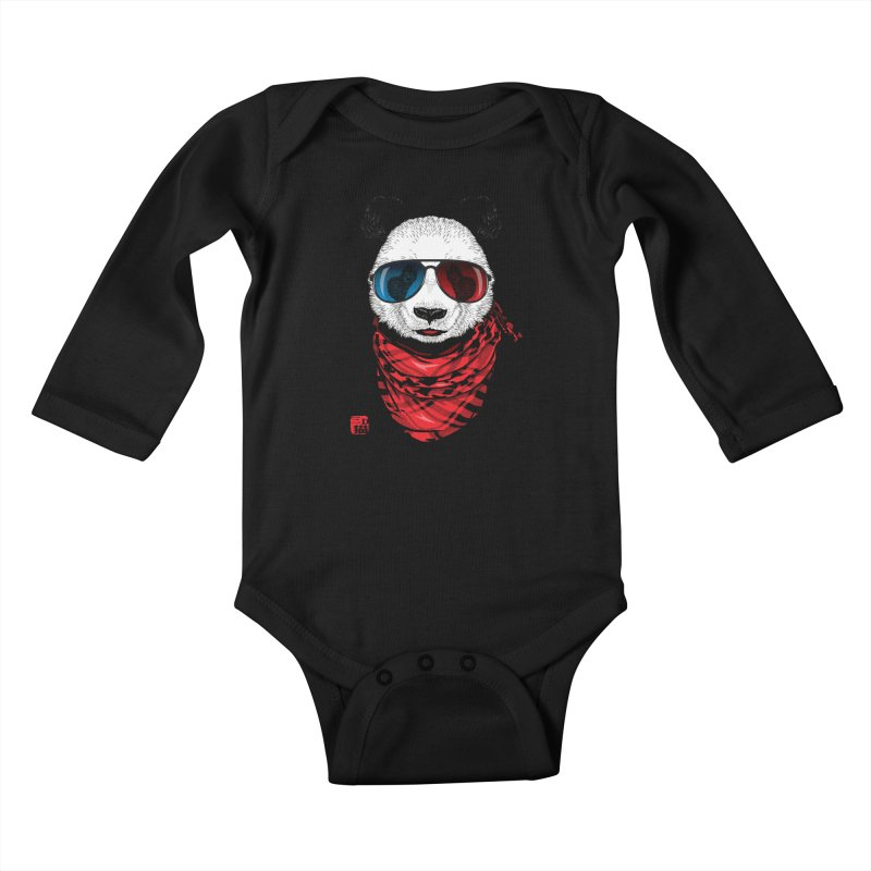3D Panda Kids Baby Longsleeve Bodysuit by Jun087