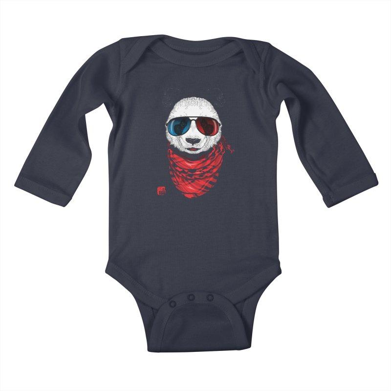 3D Panda Kids Baby Longsleeve Bodysuit by Jun087
