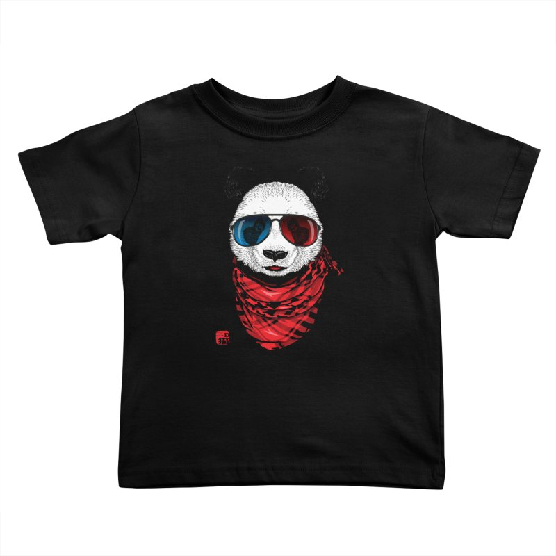 3D Panda Kids Toddler T-Shirt by Jun087