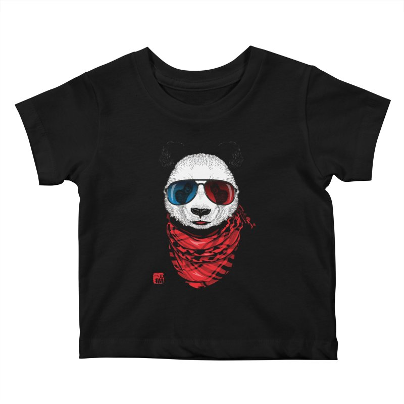 3D Panda Kids Baby T-Shirt by Jun087