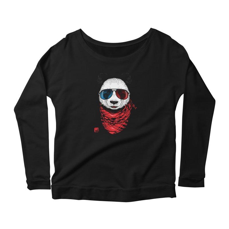3D Panda Women's Longsleeve T-Shirt by Jun087