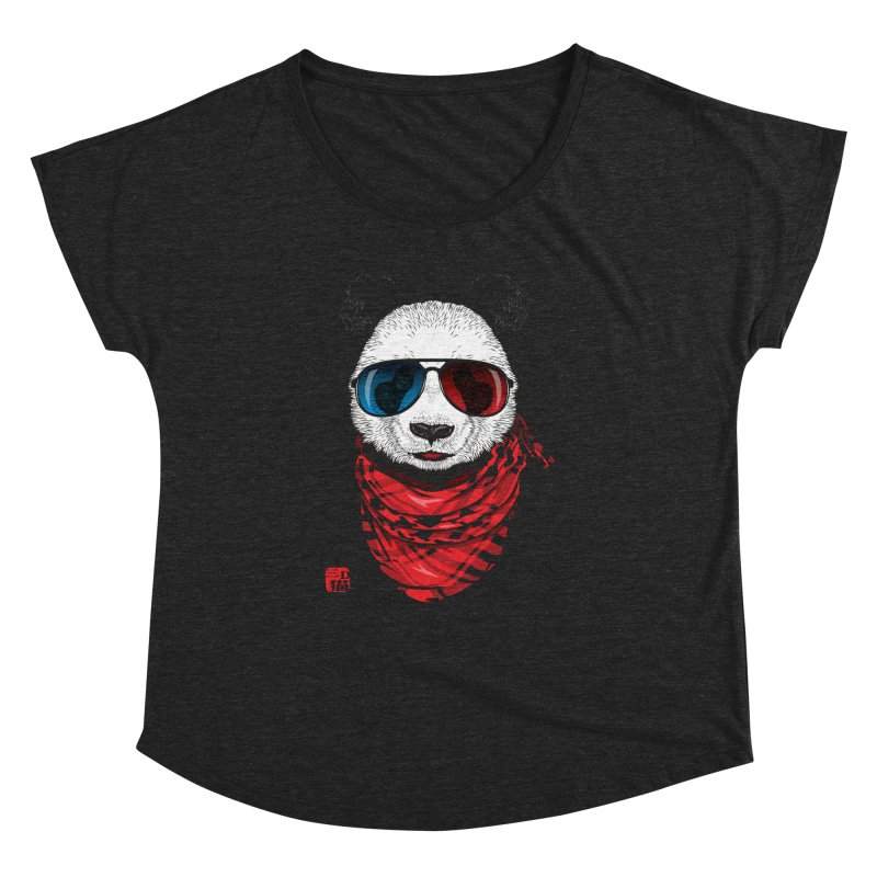3D Panda Women's Dolman Scoop Neck by Jun087