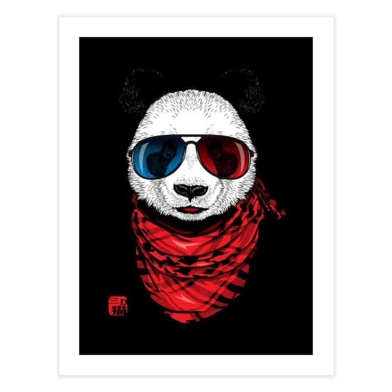 3D Panda Home Fine Art Print by Jun087