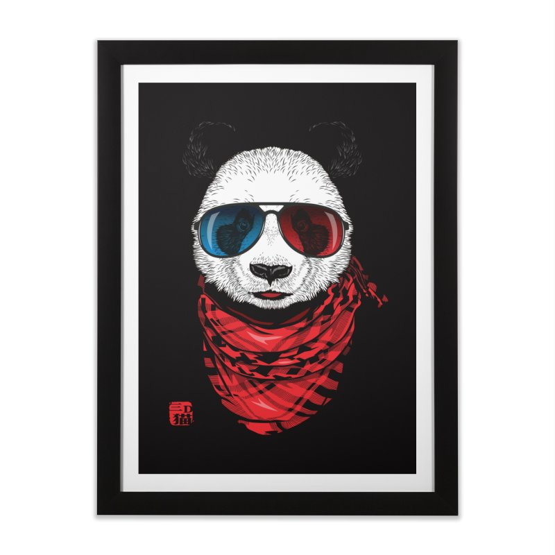 3D Panda Home Framed Fine Art Print by Jun087