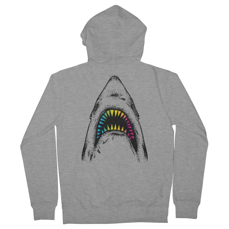 Fancy Sharky Men's French Terry Zip-Up Hoody by Jun087