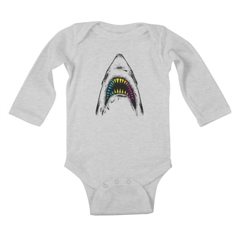 Fancy Sharky Kids Baby Longsleeve Bodysuit by Jun087