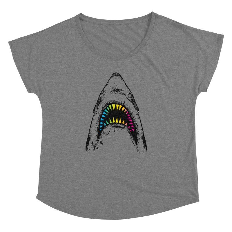 Fancy Sharky Women's Dolman Scoop Neck by Jun087
