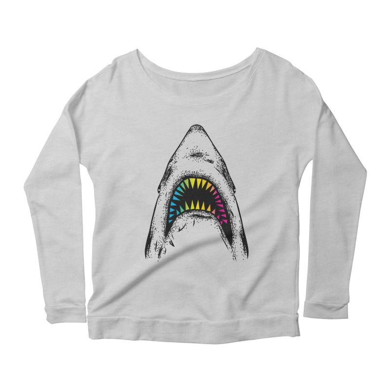 Fancy Sharky Women's Scoop Neck Longsleeve T-Shirt by Jun087