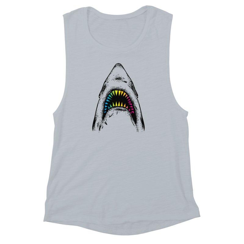Fancy Sharky Women's Muscle Tank by Jun087