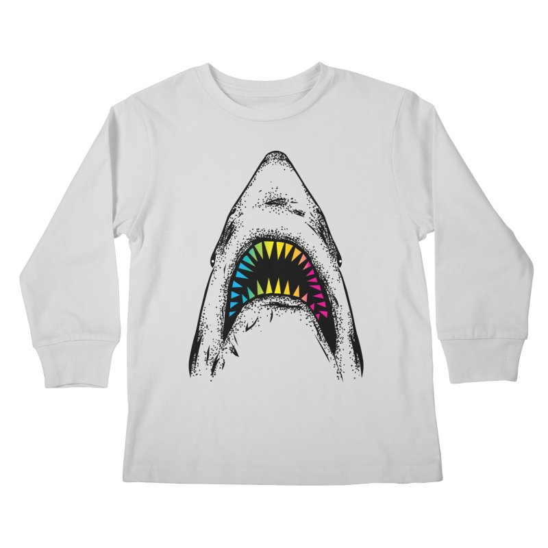 Fancy Sharky Kids Longsleeve T-Shirt by Jun087