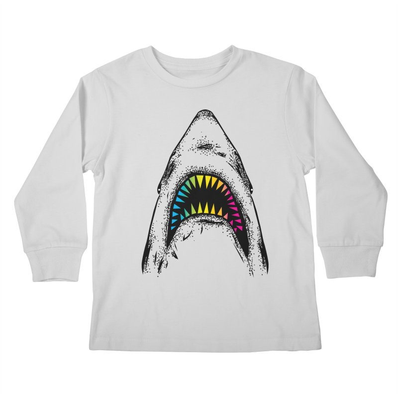 Fancy Sharky Kids Longsleeve T-Shirt by Jun087
