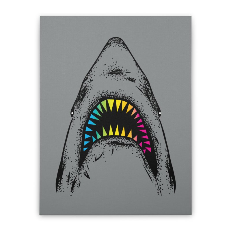 Fancy Sharky Home Stretched Canvas by Jun087