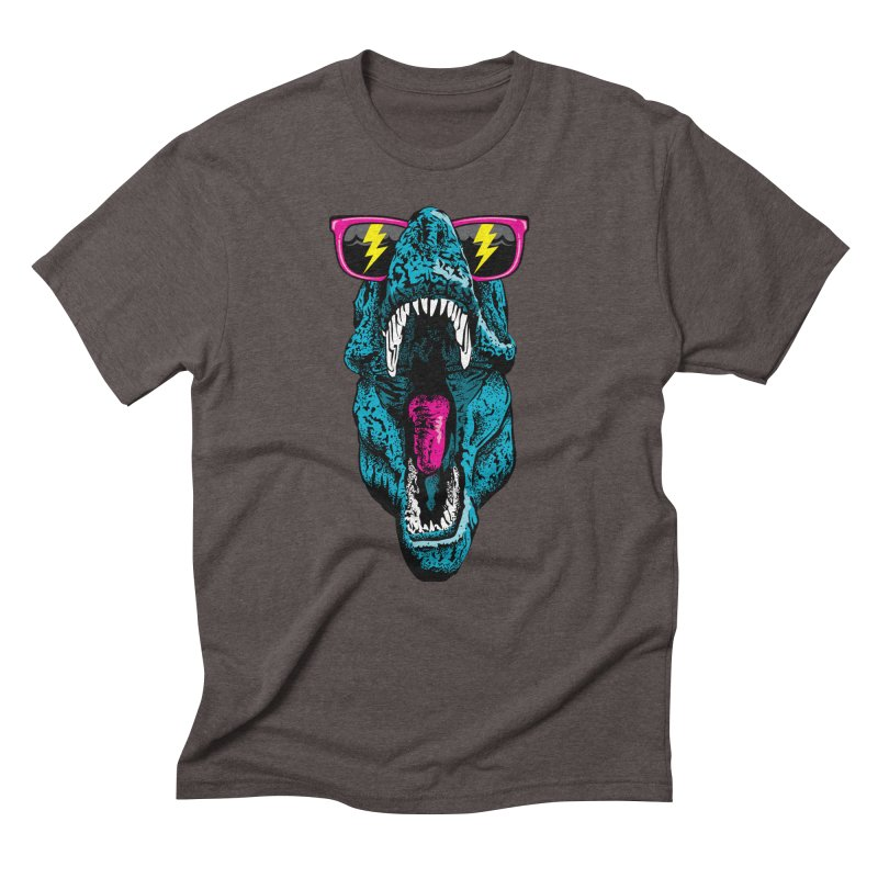 Fancy Dino Men's Triblend T-Shirt by Jun087