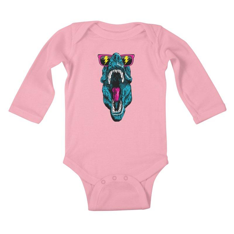 Fancy Dino Kids Baby Longsleeve Bodysuit by Jun087