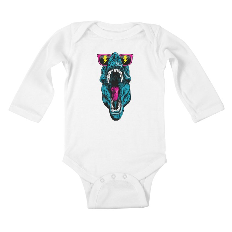 Fancy Dino Kids Baby Longsleeve Bodysuit by Jun087