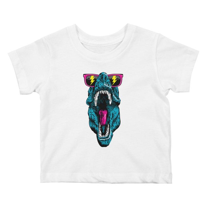 Fancy Dino Kids Baby T-Shirt by Jun087