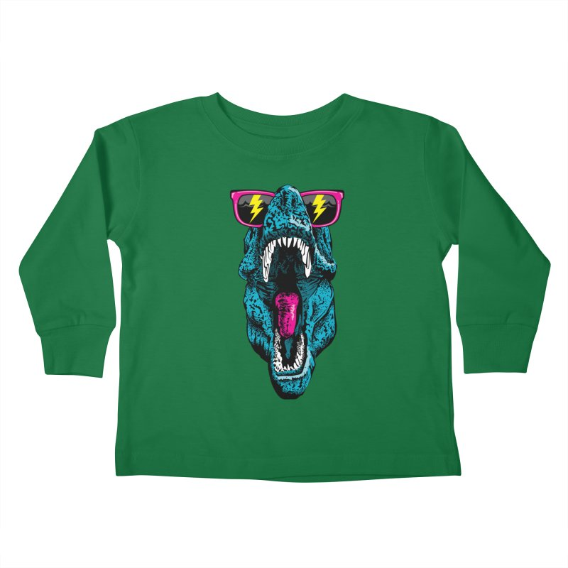 Fancy Dino Kids Toddler Longsleeve T-Shirt by Jun087