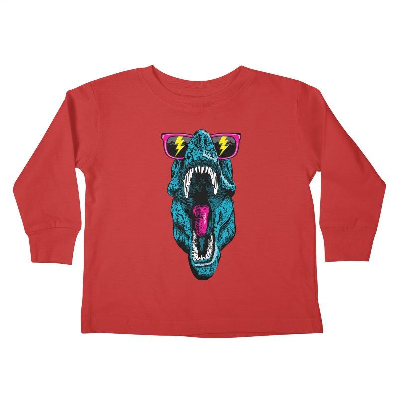 Fancy Dino Kids Toddler Longsleeve T-Shirt by Jun087