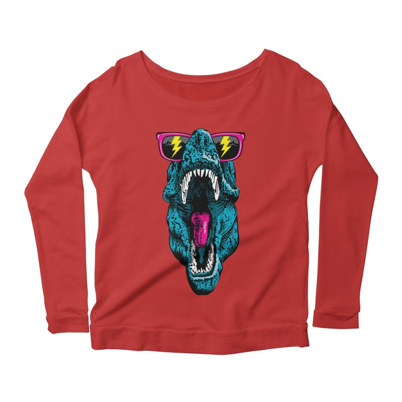 Fancy Dino Women's Longsleeve Scoopneck  by Jun087