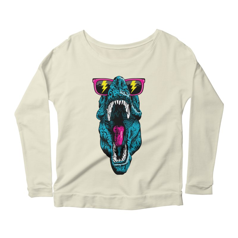 Fancy Dino Women's Scoop Neck Longsleeve T-Shirt by Jun087