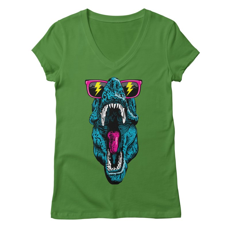 Fancy Dino Women's V-Neck by Jun087