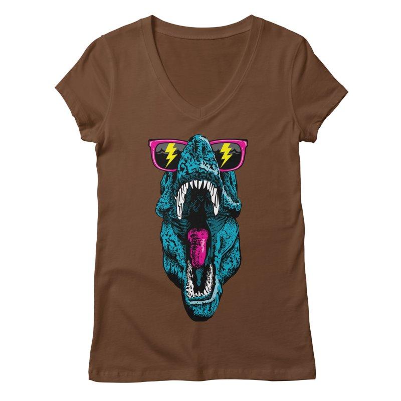 Fancy Dino Women's V-Neck by Jun087