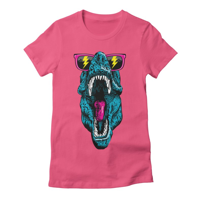 Fancy Dino Women's Fitted T-Shirt by Jun087