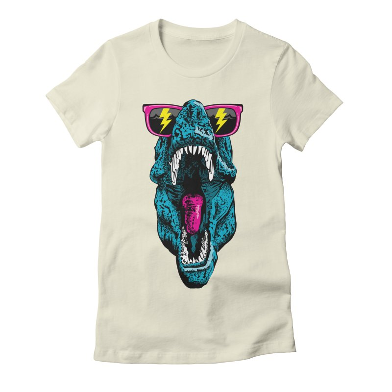 Fancy Dino Women's Fitted T-Shirt by Jun087