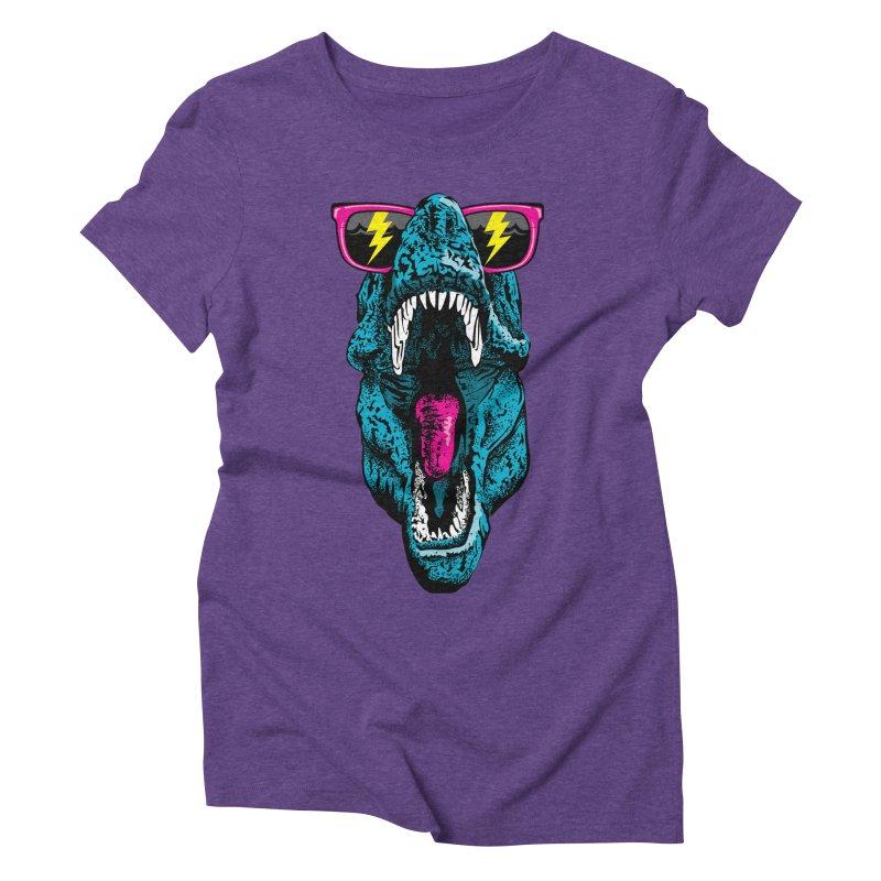 Fancy Dino Women's Triblend T-Shirt by Jun087