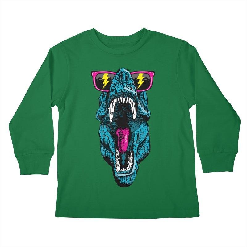 Fancy Dino Kids Longsleeve T-Shirt by Jun087