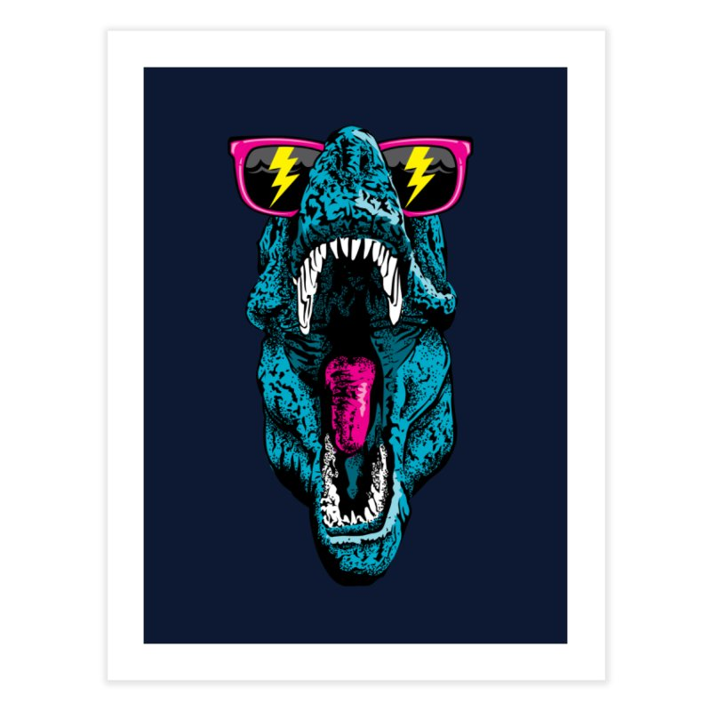 Fancy Dino Home Fine Art Print by Jun087