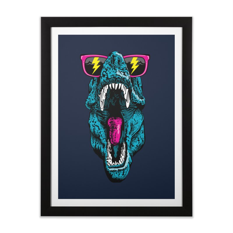 Fancy Dino Home Framed Fine Art Print by Jun087