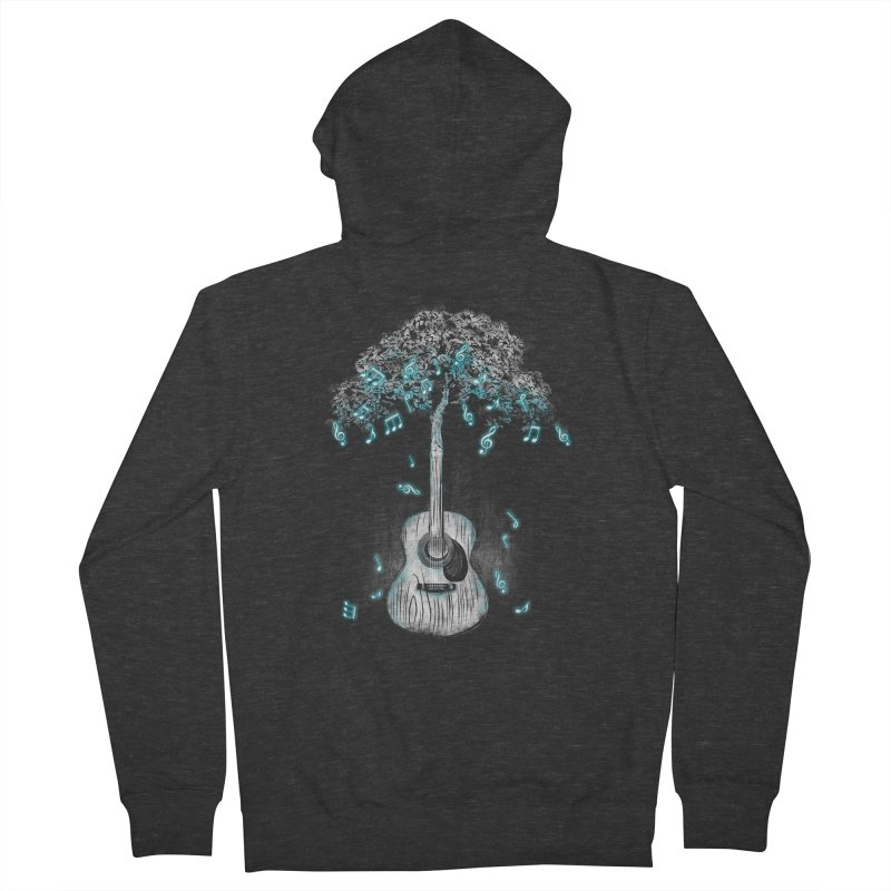 Sound of Nature Men's French Terry Zip-Up Hoody by Jun087
