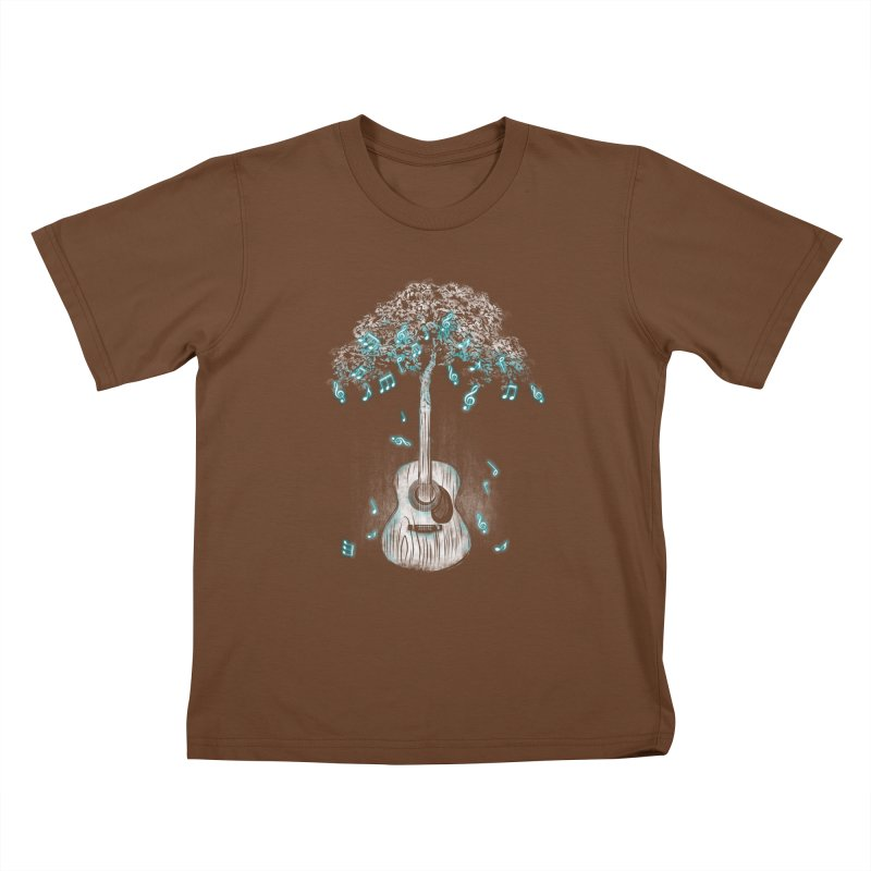 Sound of Nature Kids T-Shirt by Jun087