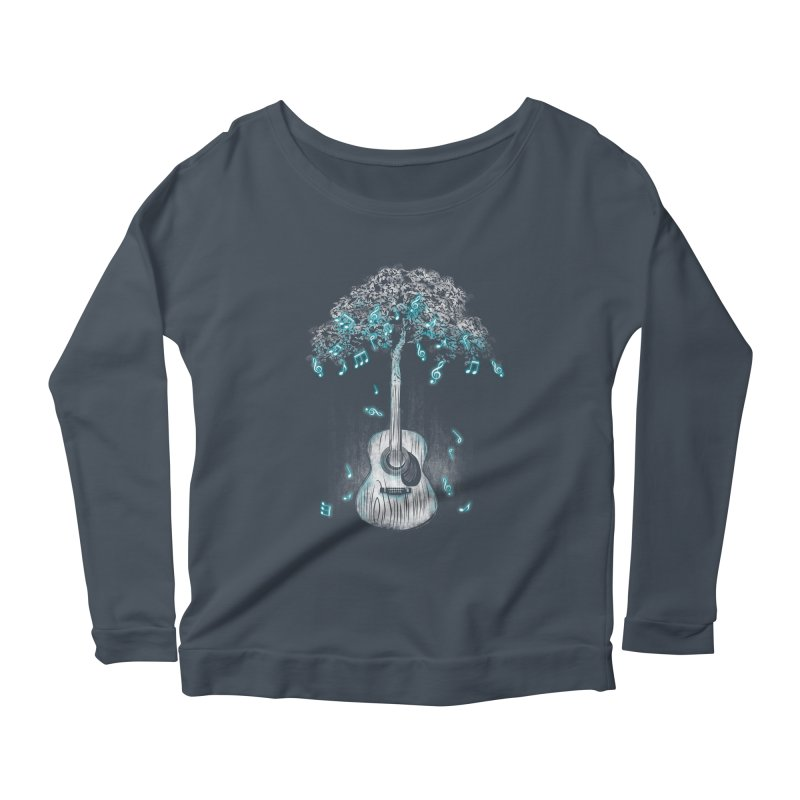 Sound of Nature Women's Scoop Neck Longsleeve T-Shirt by Jun087