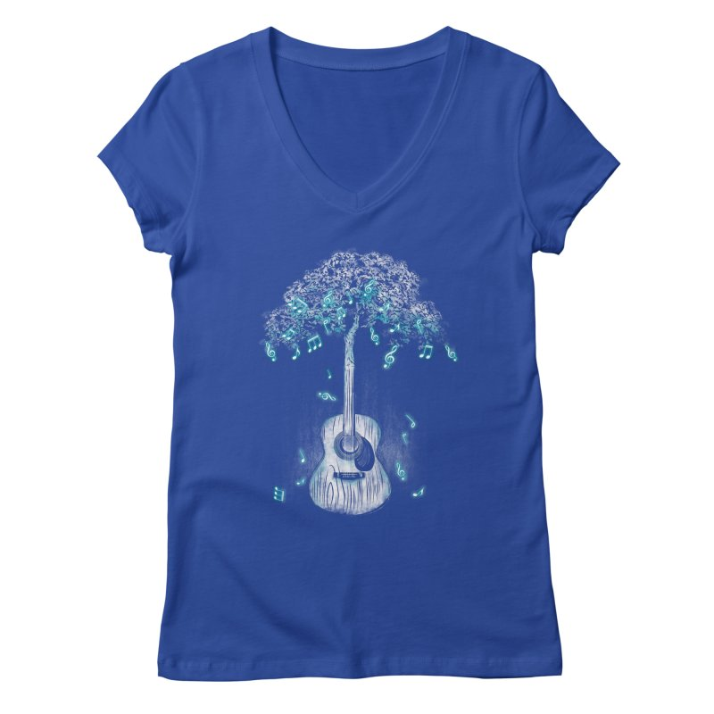 Sound of Nature Women's V-Neck by Jun087