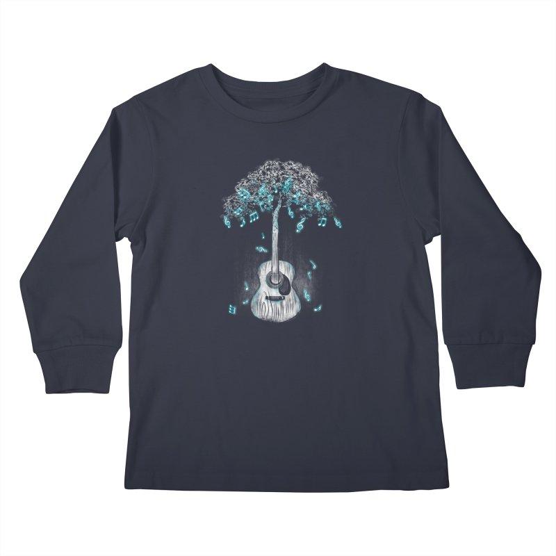 Sound of Nature Kids Longsleeve T-Shirt by Jun087